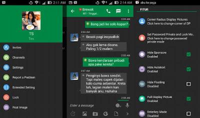 Download BBM Mod Green Dark v29.0.51 APK terbaru