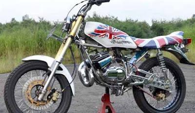foto gambar modifikasi motor yamaha rx king  terbaru