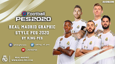 PES 2020 Real Madrid Graphic Menu for PES 2017