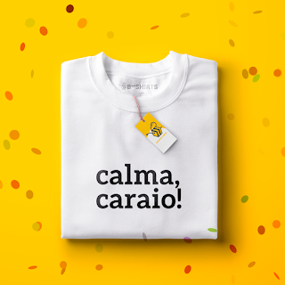 Camiseta para carnaval - Calma, Caraio!