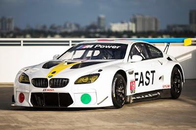BMW M6 GTLM 2017 John Baldessari Art Car Front Side
