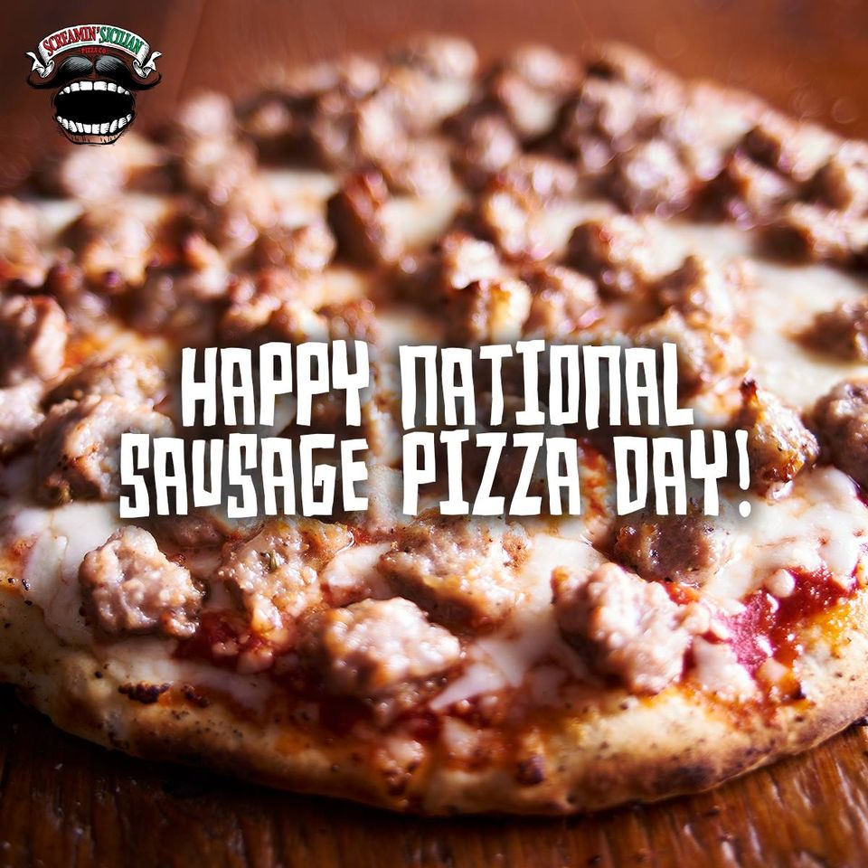 National Sausage Pizza Day Wishes pics free download
