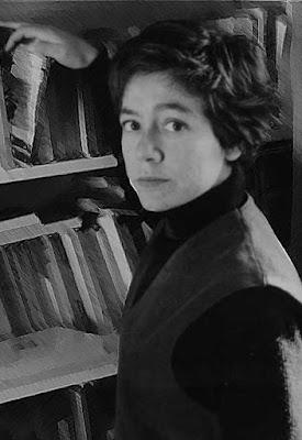 retrato en blanco y negro de Alejandra Pizarnik