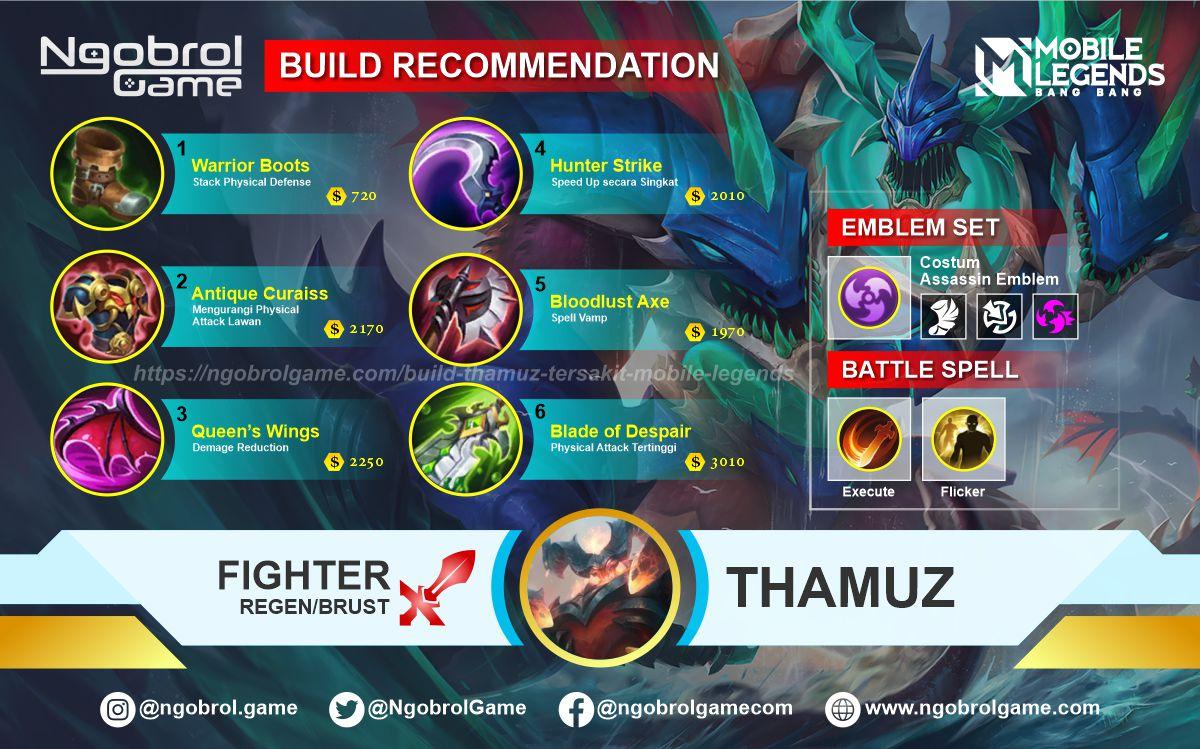 Build Thamuz Top Global Tersakit Mobile Legends