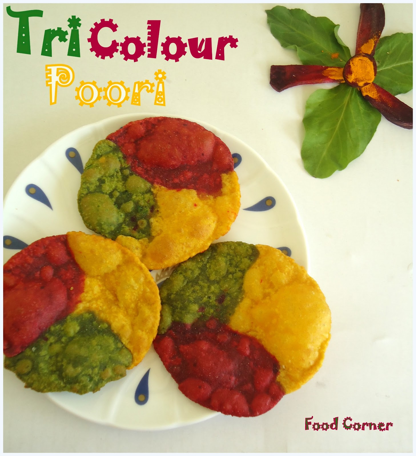 This style of poori i learned from my mil i like this colorful poori very much for kids always we have to bring variation n i think its best