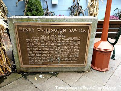 Henry Washington Sawyer Civil War Hero Memorial in Cape May, New Jersey