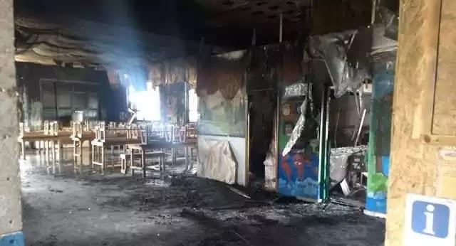 Αλλοδαποί οι δράστες που πυρπόλησαν τη δομή στο Καρατεπε της Λέσβου !
