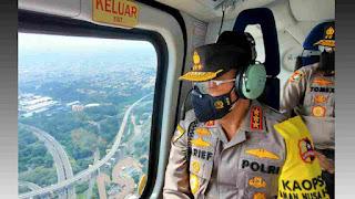Pantau via Udara, Kabaharkam Sampaikan Situasi PPKM Darurat Aman Terkendali