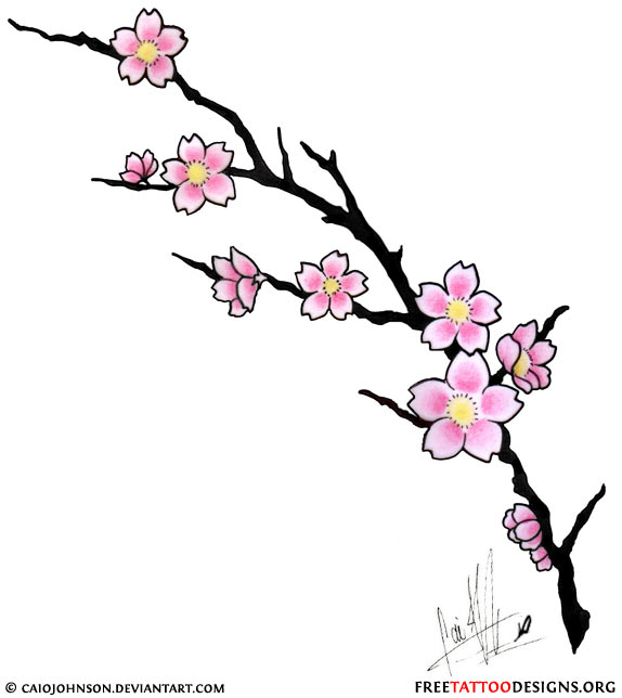 Stunning Cherry Blossom Tattoo and Meanings