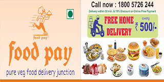 Food Pay | pure veg food delivery junction | Call now : 1800 5726 244 | Delivery within 30 min. & 10% Discount on Online pre payment | FREE HOME DELIVERY every Rs. 500/-
