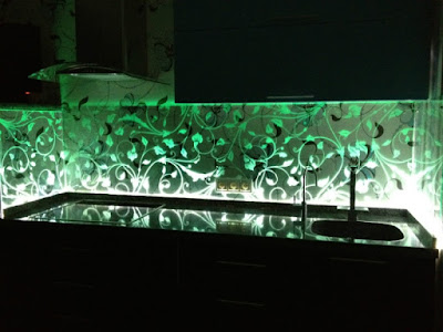 Backlit Glass Backsplash