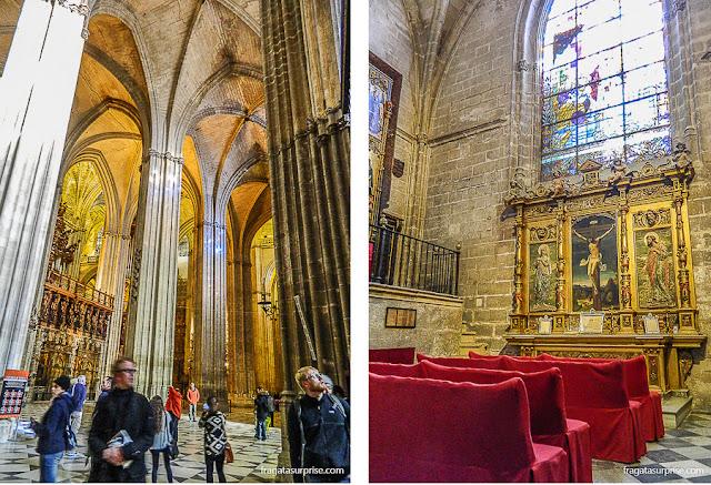 Interior da Catedral de la Giralda, em Sevilha