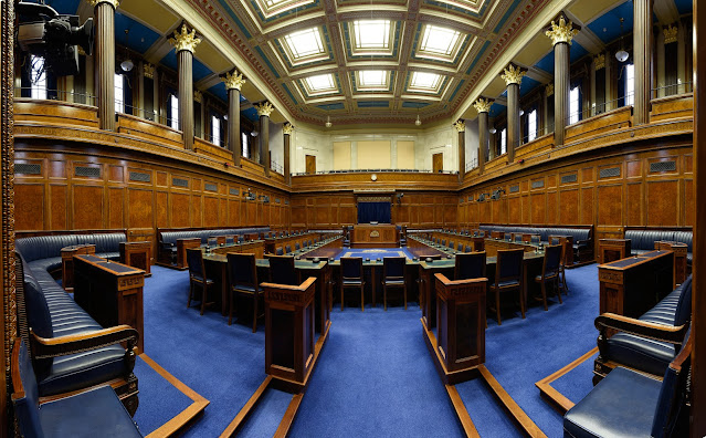 The Assembly Chamber in Parliament Buildings