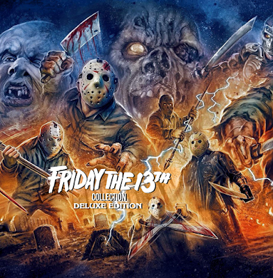 Back view of Scream Factory's Deluxe Edition of THE FRIDAY THE 13TH COLLECTION!