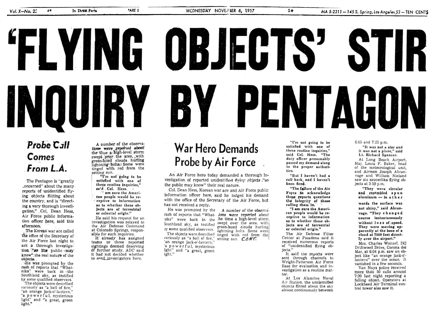 Image result for PENTAGON UFOS