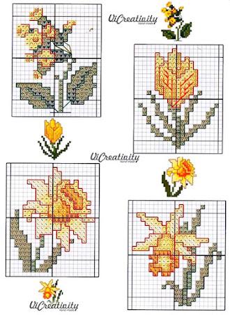 spring cross stitch patterns
