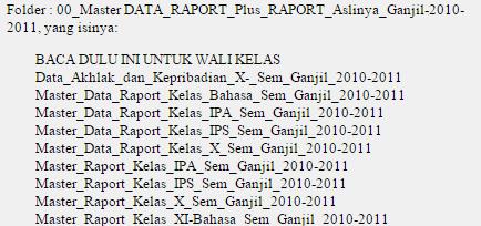 Program Daftar Nilai Dan Raport Ktsp Infopendidikan