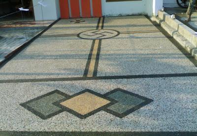 Desain Motif Batu Sikat Minimalis