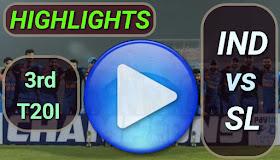 IND vs SL 3rd T20I 2020