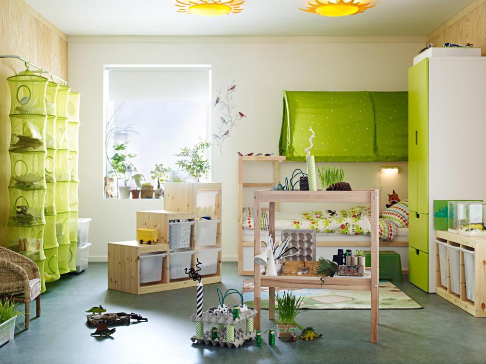 Ikea m bel f r kinderzimmer gr n als farbkonzept im for Mobel kinderzimmer ikea
