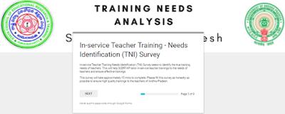 In-service Teacher Training - Needs Identification (TNI) Survey