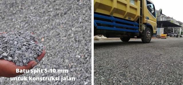 batu split 5-10 mm untuk konstruksi jalan