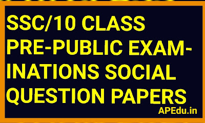 PRE - FINAL EXAMINATIONS - 2019- 2020 Social Studies