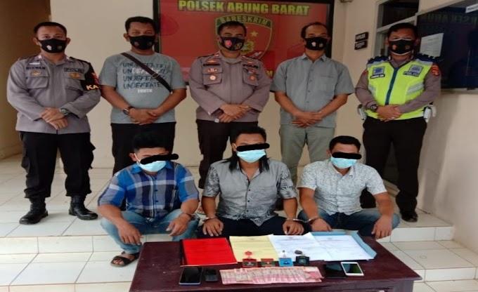 Diduga Peras Kades, Tiga Oknum LSM Anti Korupsi Lampura di Ciduk Tim Opsnal Polsek Abung Barat