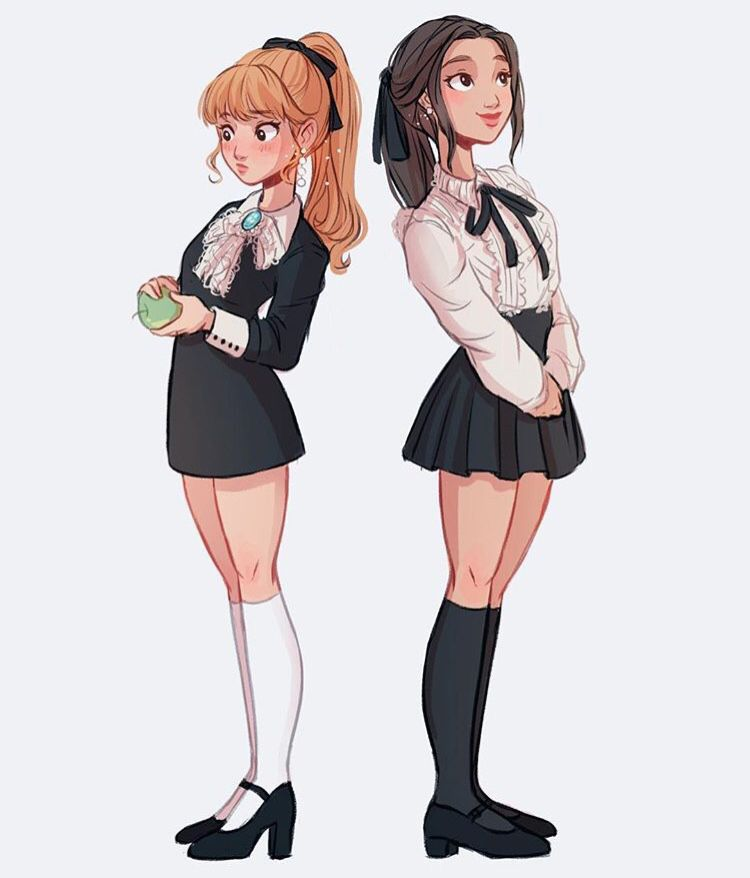 Two Girls Character Design By Itslopez