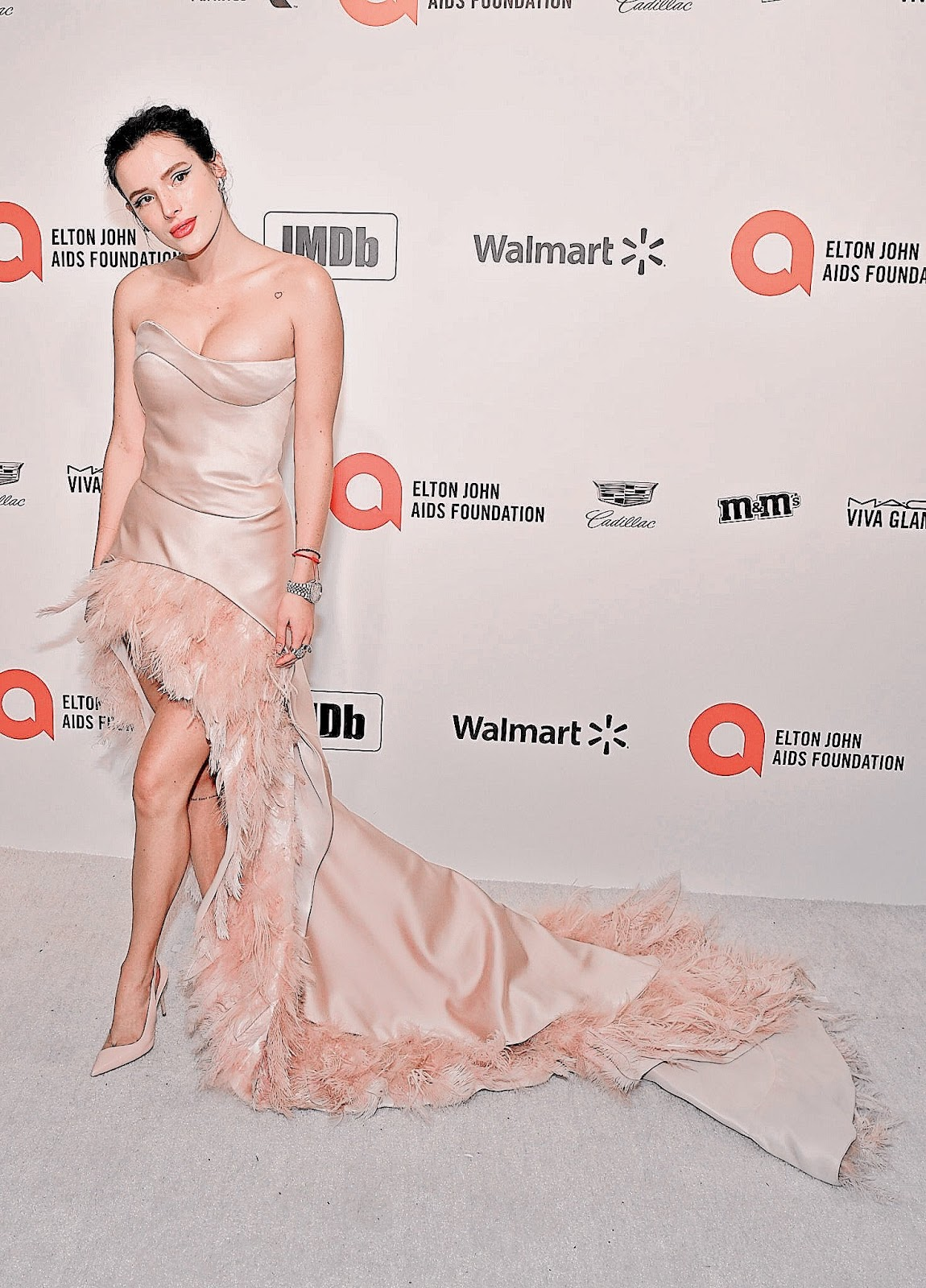 Bella Thorne at the Elton John AIDS Foundation Oscar Viewing Party