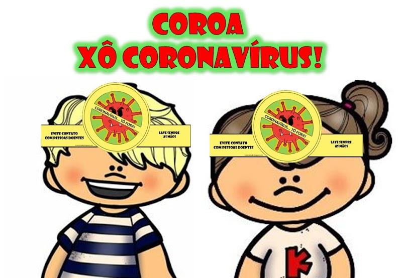 COROA DO CORONAVÍRUS PARA IMPRIMIR