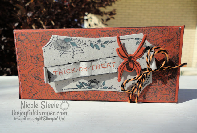 halloween, reese's cup treat holder, reese's cup box, candy holder, hallows night magic, stampin' up, nicole steele, independent stampin' up! demonstrator, the joyful stamper
