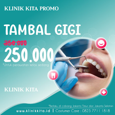 PROMO TAMBAL GIGI MURAH DI JAKARTA TIMUR & SELATAN
