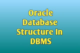 Oracle Database Structure In DBMS In Hindi