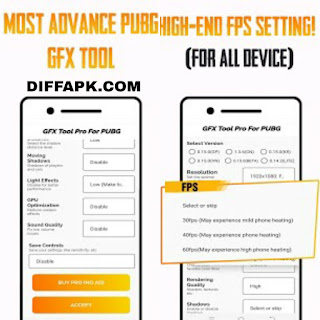 GFX Tool PUBG Pro (Advance FPS Settings + No Ban) Apk v7.0 [Paid]