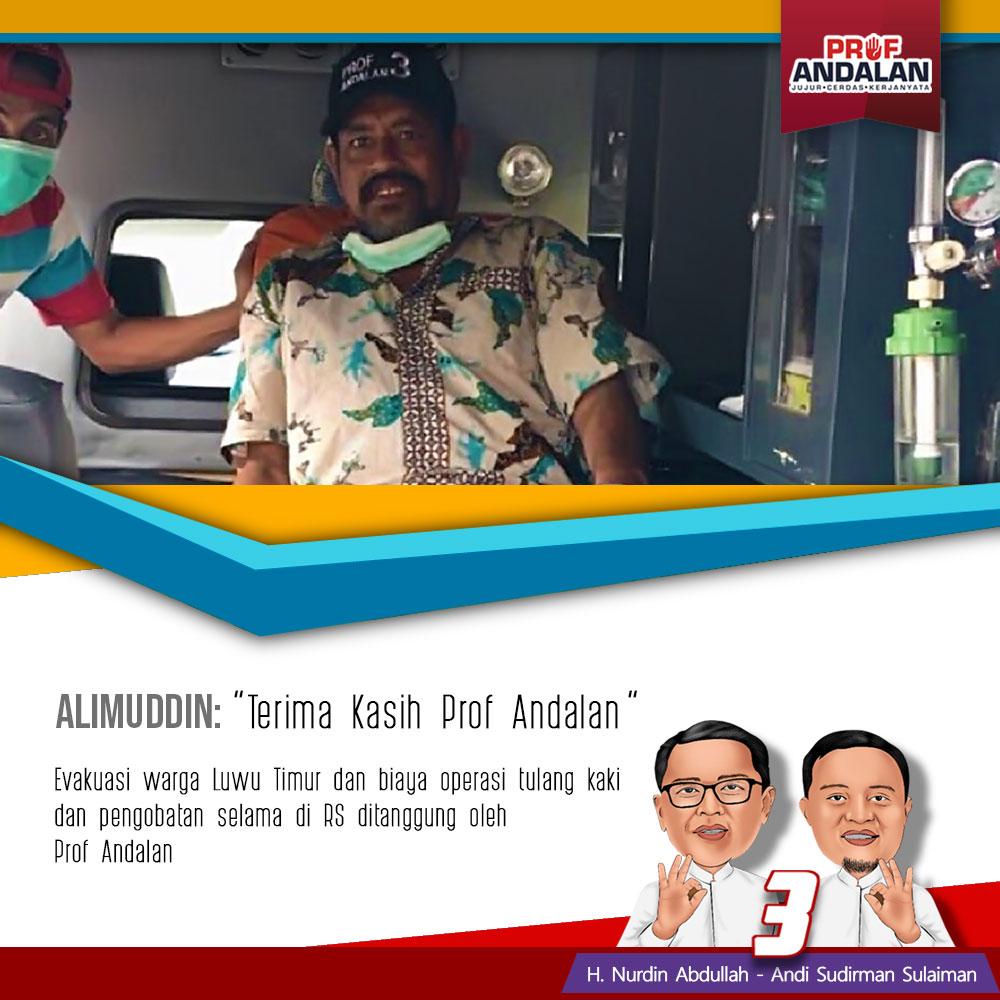 Pakai Helikopter, Prof Nurdin Abdullah Antar Alimuddin Kembali ke Luwu
