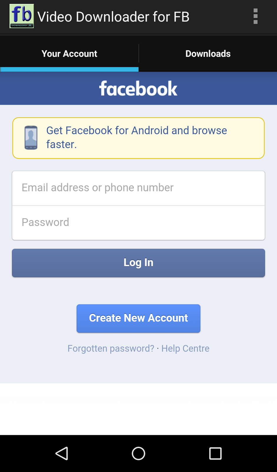 Video Downloader for Facebook - Android App Source Code