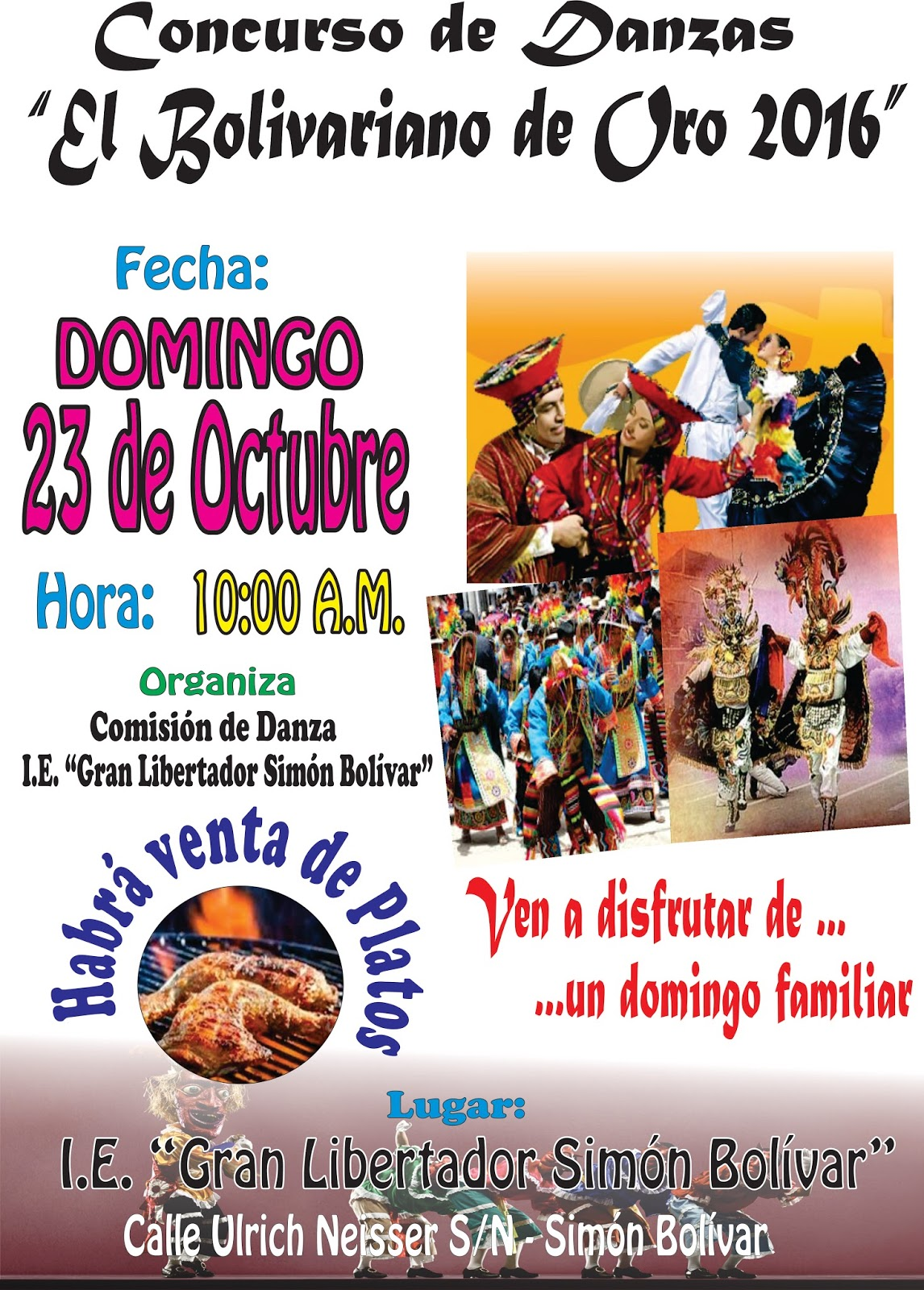 Concurso de danzas el bolivariano de oro 2016 noticias for Plazas disponibles para el concurso docente 2016
