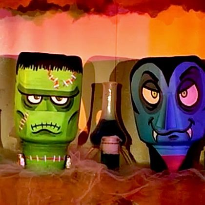 Monster Jug Heads Decoration