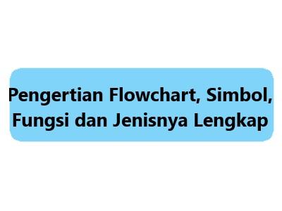 Pengertian Flowchart, Simbol, Fungsi dan Jenisnya Lengkap