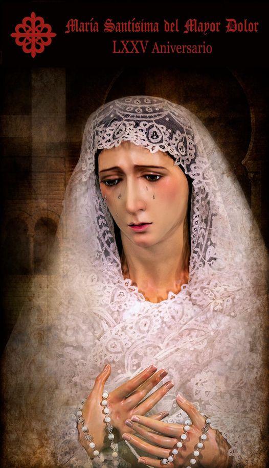 Cartel del LXXV Aniversario de María Santísima del Mayor Dolor de Jaén