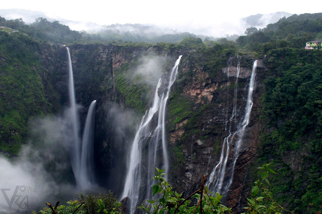 Jog Falls in the morning mist