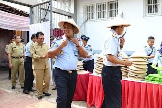 Lapas Pemuda Tangerang Gelar Panen Raya Bersama Kakanwil dan Pejabat Pratama Kanwil Kemenkumham Banten
