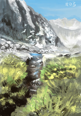 douglas deri, deri, art, fineart, oil, paint, tutorial, brush, landscape, mountain, conceptart