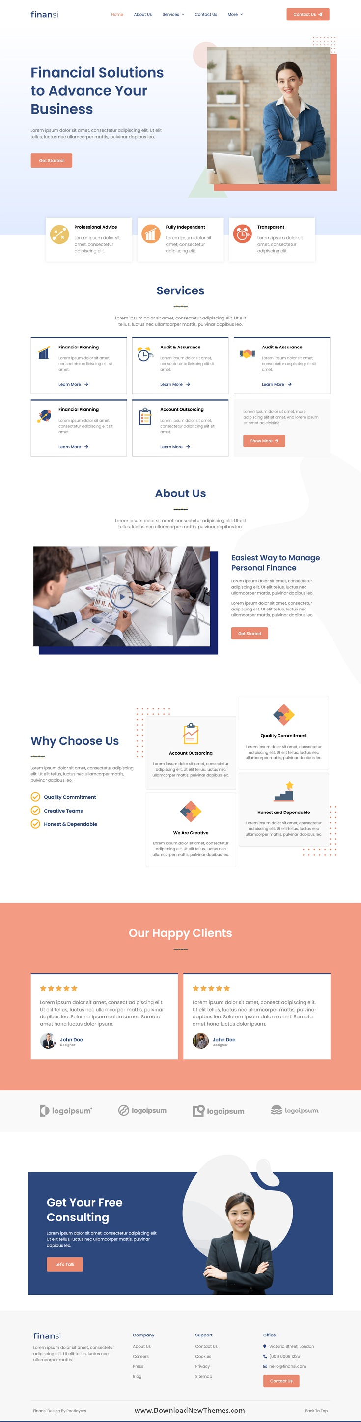 Finance and Business Elementor Template Kit