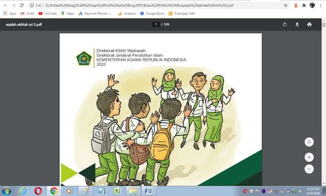 Buku akidah akhlak kelas 2 mi sesuai kma 183 tahun 2019 kurikulum PAI