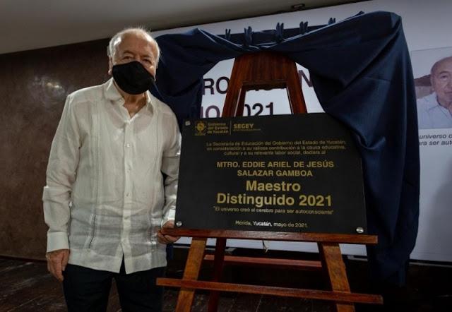 """Eddie Salazar Gamboa es condecorado como """"Maestro Distinguido"""""""