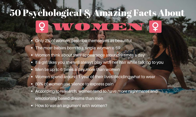 50 Psychological and Amazing Facts about Women