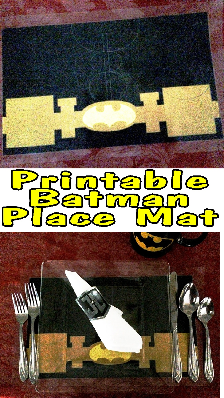 Save the Table, Save the World with this Printable Batman Place Mat