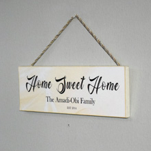 Family Wood Hanging Sign in Port Harcourt, Nigeria